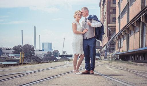 Brautpaarbilder am Rheinhafen