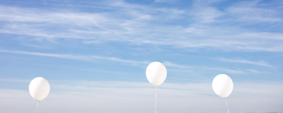 Ballons bei Hochzeit