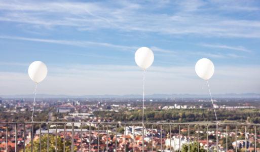 Ballons steigen lassen bei der Hochzeit?