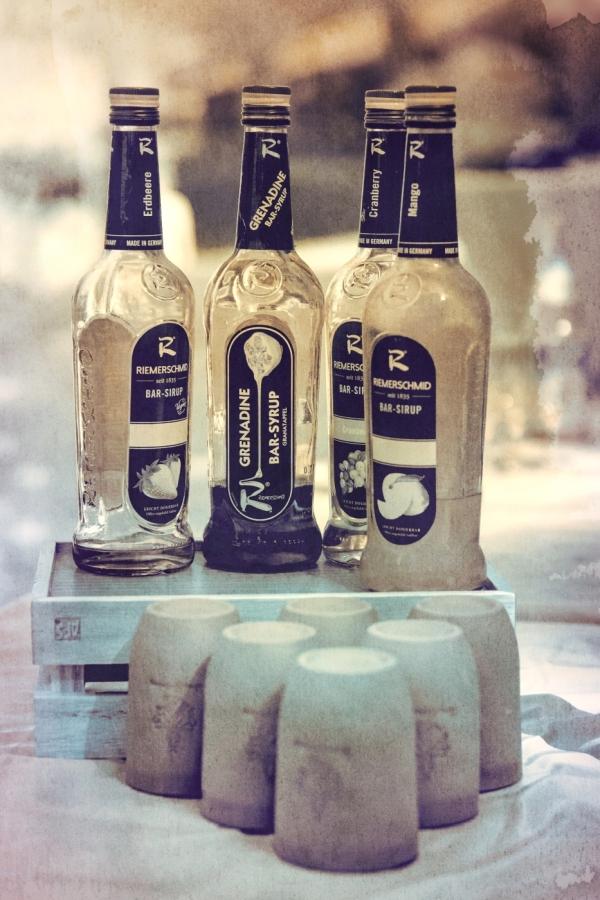 Infrarot Hochzeitsfotos Flaschen und Becher