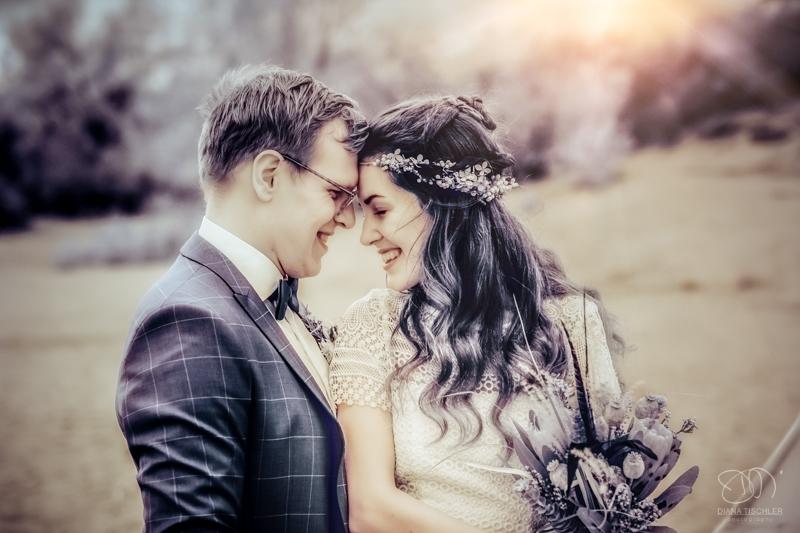 Infrarot Foto Hochzeit Brautpaar im Licht