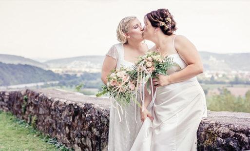 Iris & Ines' Hochzeit auf der Burg Guttenberg